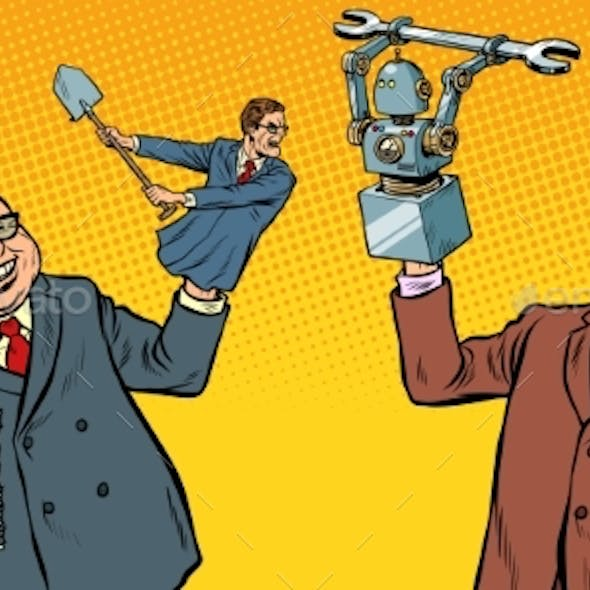 People Against Robots War for the Workplace