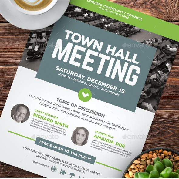 Town Hall Meeting Flyer Vol.03
