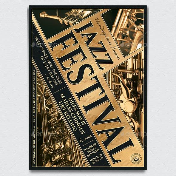 Jazz Festival Flyer Template V1