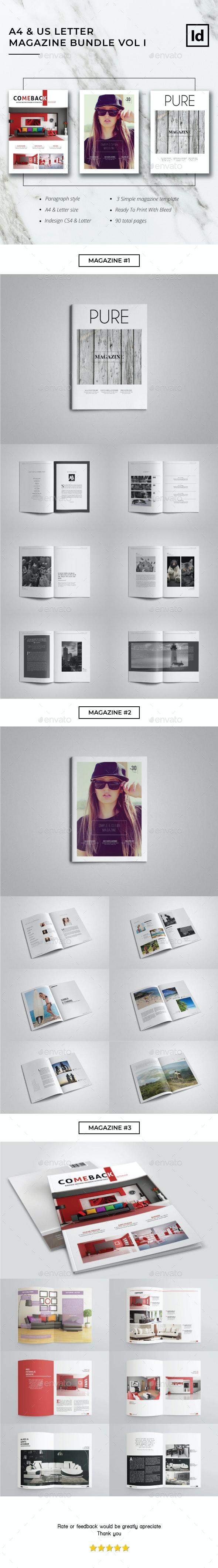 A4 & US Letter Magazine Bundle Vol I - Magazines Print Templates