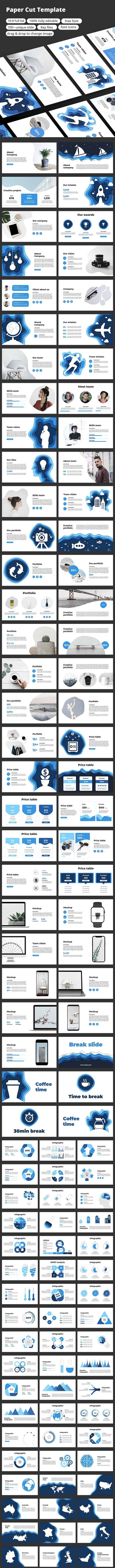 Paper Cut - Keynote Template - Business Keynote Templates
