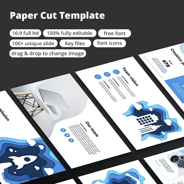 Paper Cut - Keynote Template