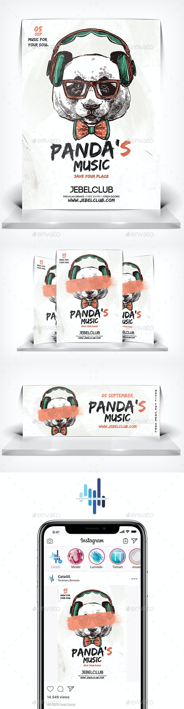 DJ Panda Music FLyer - Clubs & Parties Events