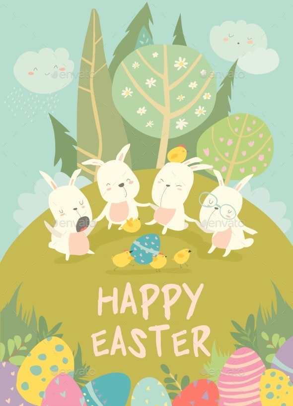 Easter Bunnies - Miscellaneous Seasons/Holidays