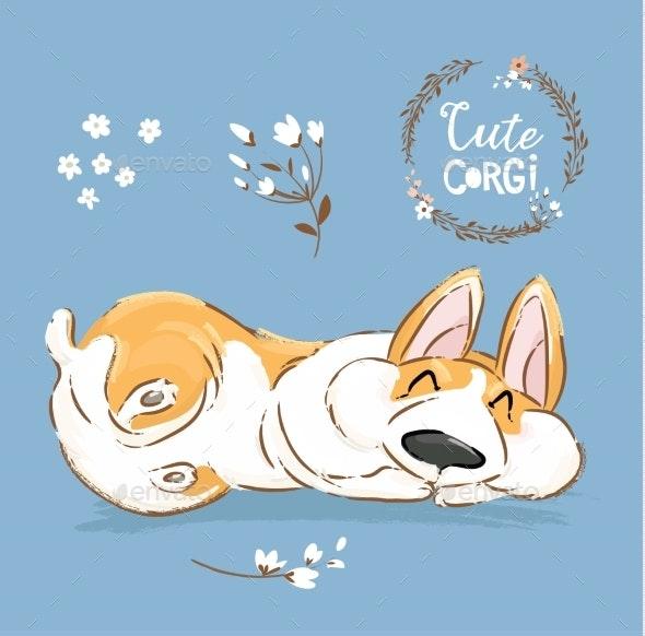 Corgi Dog - Animals Characters