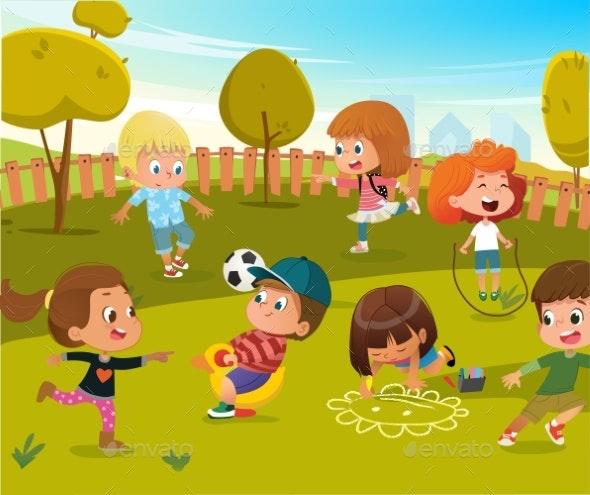 Baby Play Kindergarten Playground - People Characters