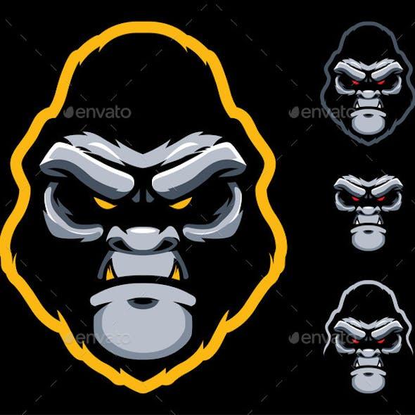 Gorilla Face Mascot