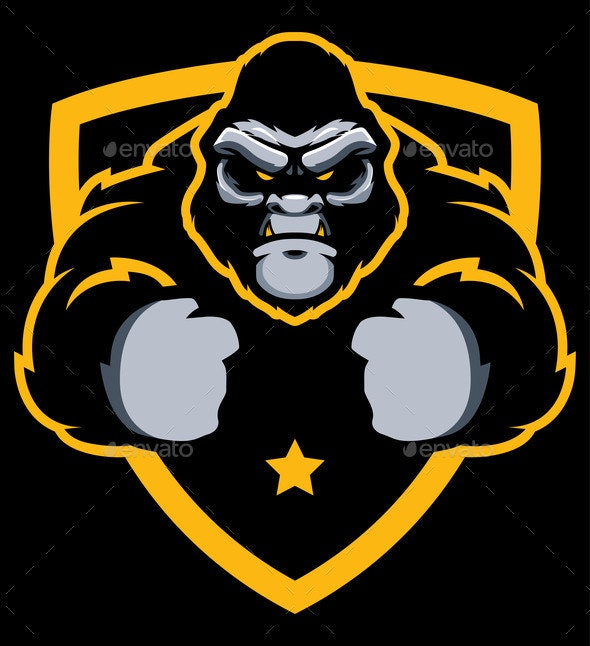 Gorilla Gym Mascot - Animals Characters