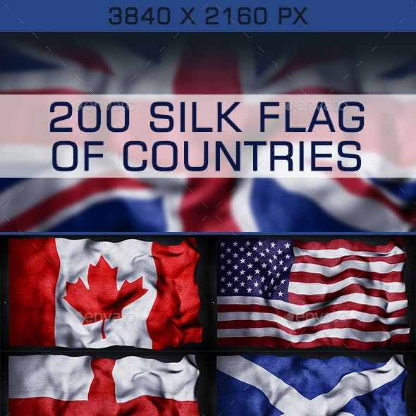 200 Silk Flag of Countries