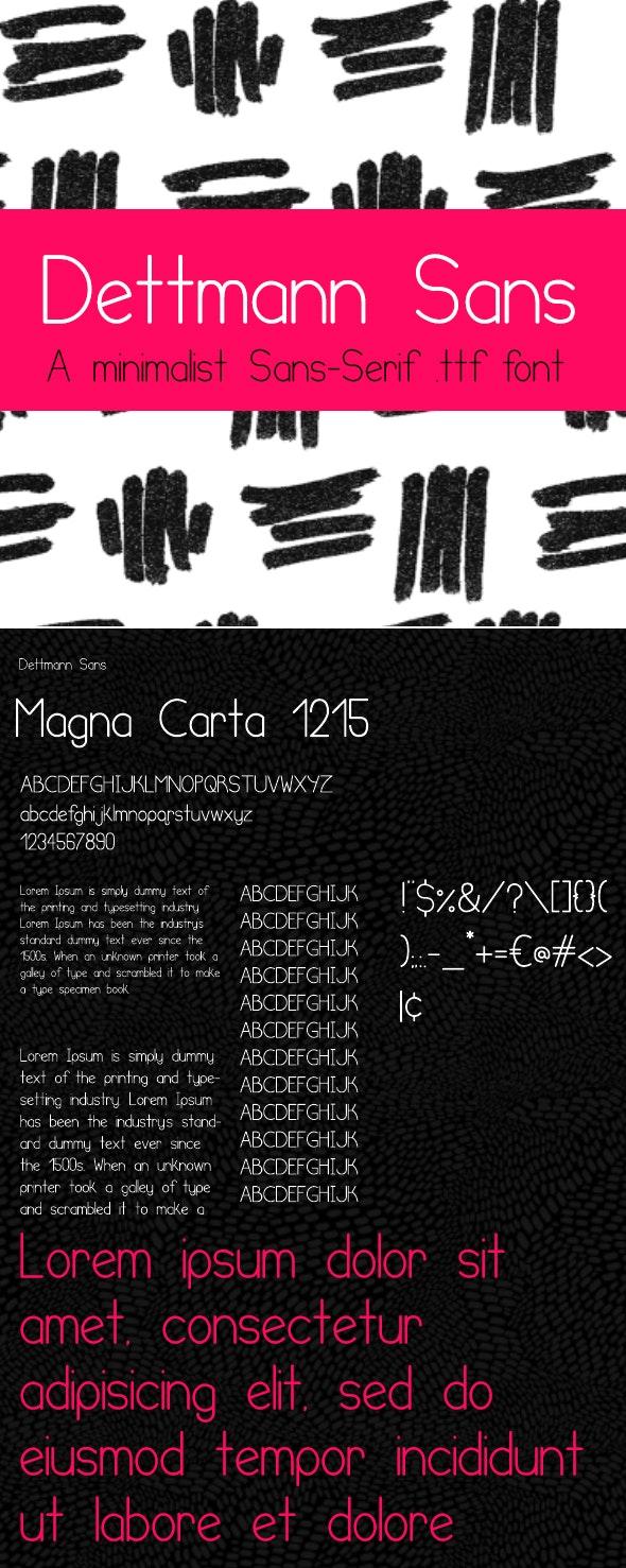 Dettmann Sans - Minimalist Sans-Serif Font - Sans-Serif Fonts