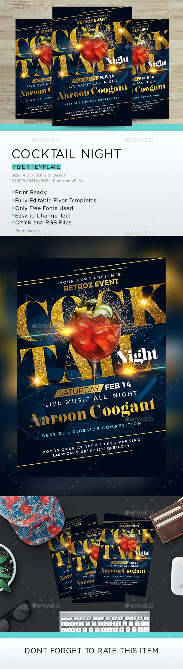 Cocktail Night Flyer - Clubs & Parties Events