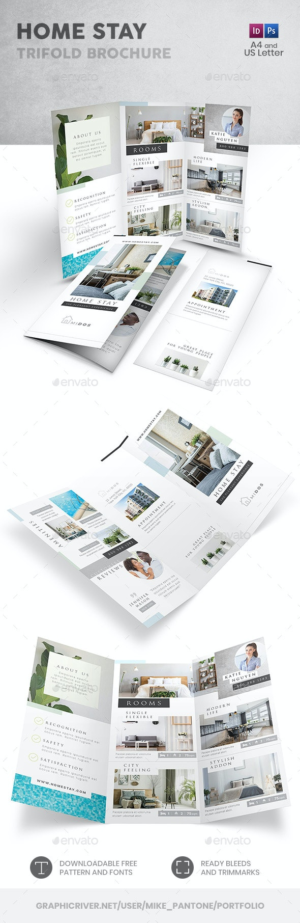 Home Stay Trifold Brochure - Informational Brochures
