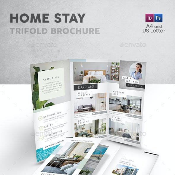 Home Stay Trifold Brochure