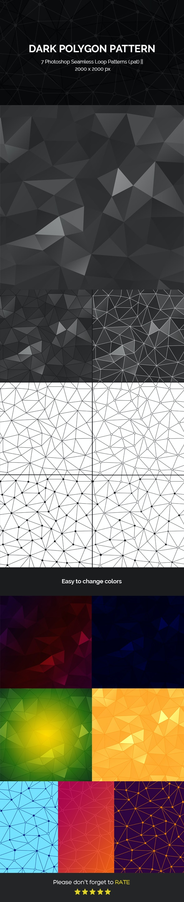 Polygon Seamless Loop Photoshop Patterns - Textures / Fills / Patterns Photoshop