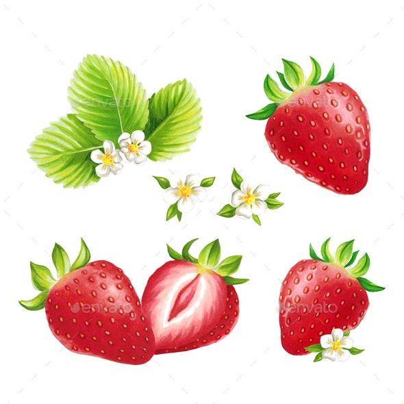 Strawberry - Illustrations Graphics
