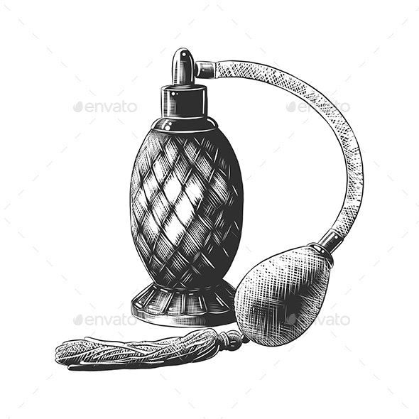 Perfume in Monochrome Isolated - Miscellaneous Vectors