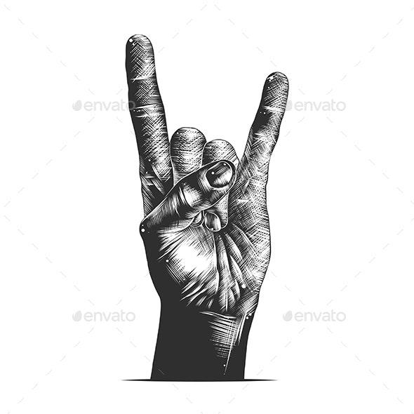 Rock Sign Gesture - Miscellaneous Vectors