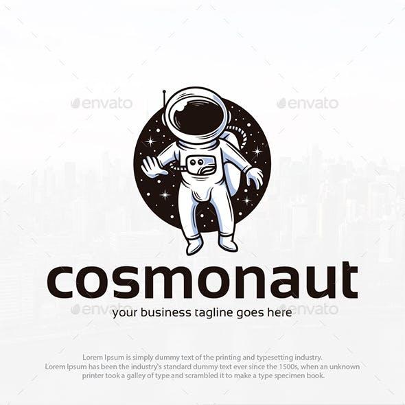 Cosmonaut Adventure Logo Template