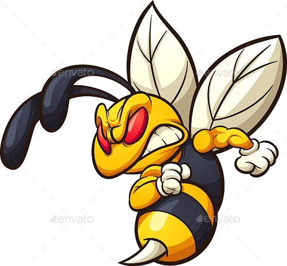 Angry Hornet - Animals Characters