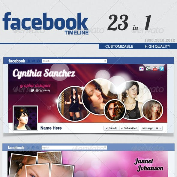 Facebook Timeline Cover FULL 23 in 1