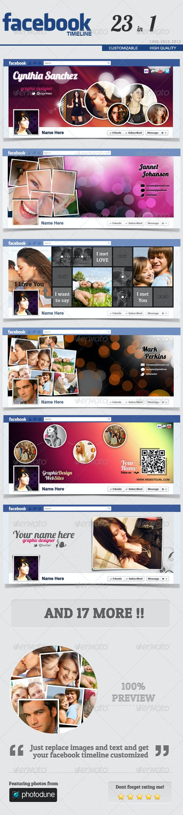 Facebook Timeline Cover FULL 23 in 1