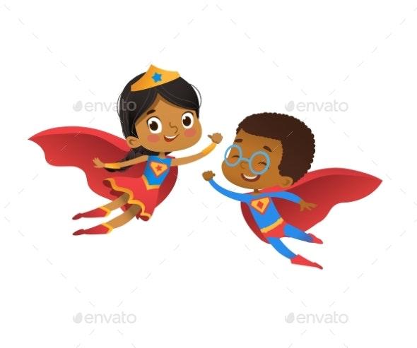 Superhero Kindergarten Party - Miscellaneous Vectors