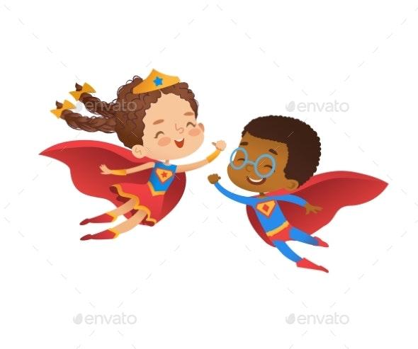 Superhero Costume Kindergarten Party - Miscellaneous Vectors
