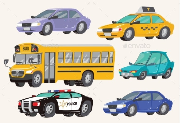 Set of Toy Vehicles - Man-made Objects Objects