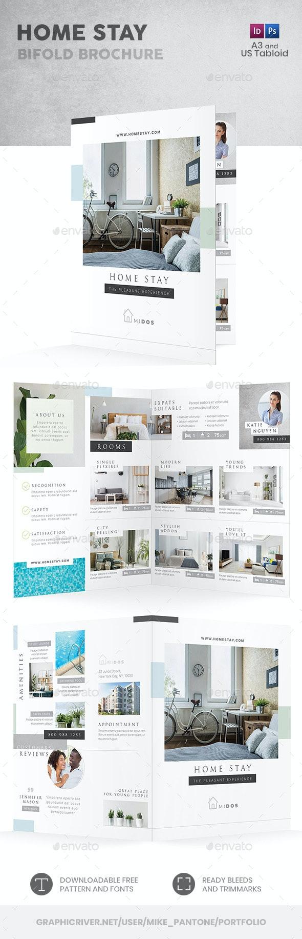 Home Stay Bifold / Halffold Brochure - Informational Brochures