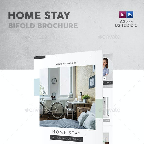 Home Stay Bifold / Halffold Brochure