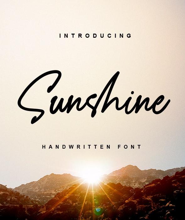 Sunshine - a Handwritten Font - Hand-writing Script