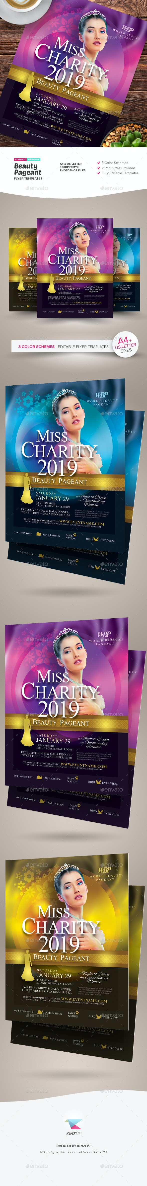 Beauty Pageant Flyer Templates - Miscellaneous Events