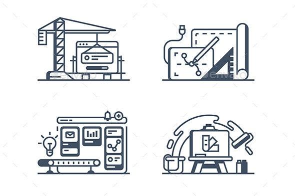 Set Design Icons - Miscellaneous Vectors