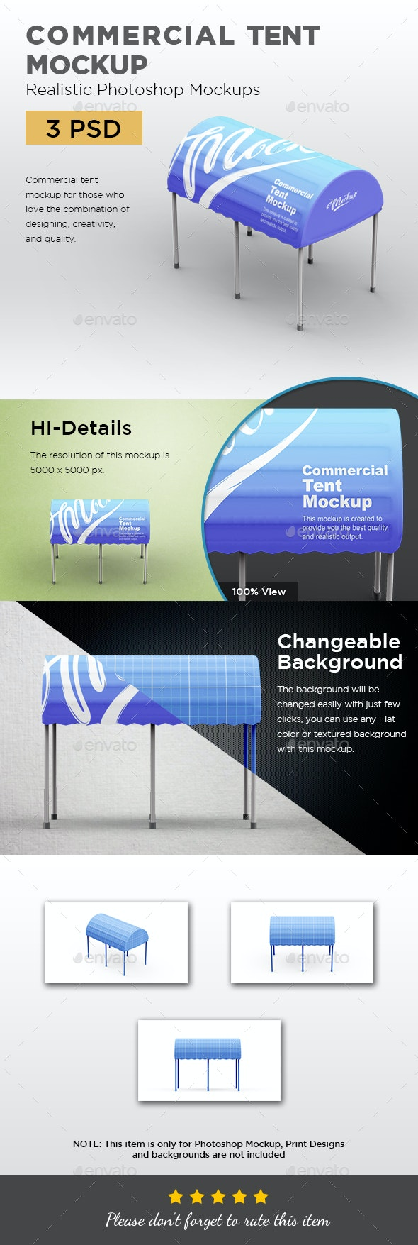 Commercial Tent Mockup - Print Product Mock-Ups