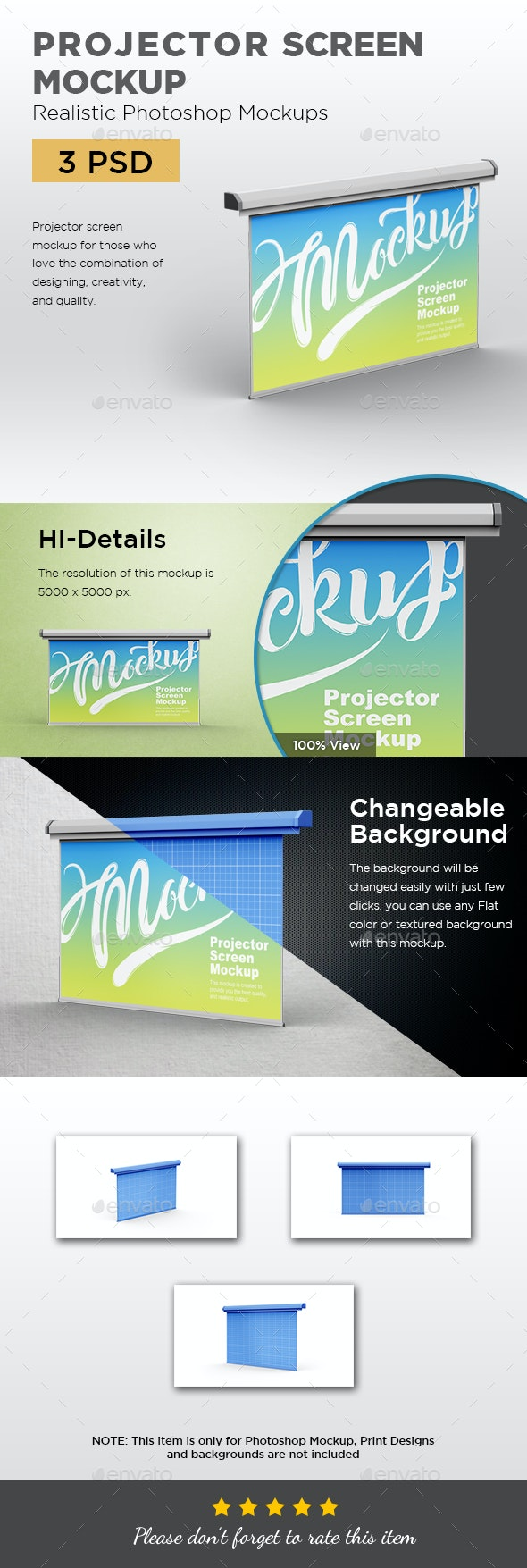 Projector Screen Mockup - Displays Product Mock-Ups