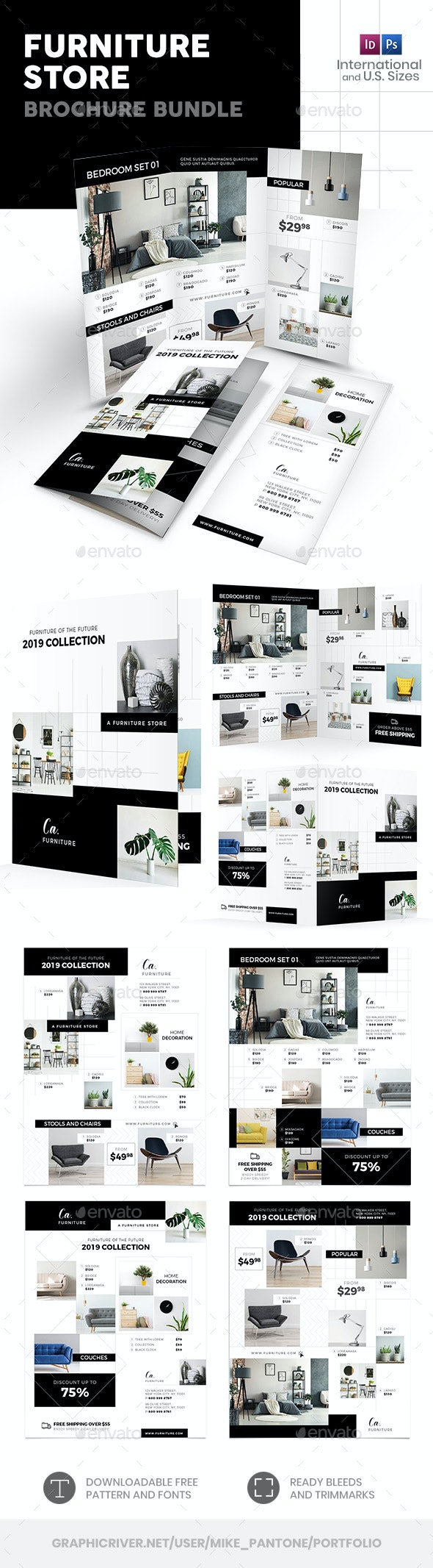 Furniture Store Print Bundle 4 - Informational Brochures