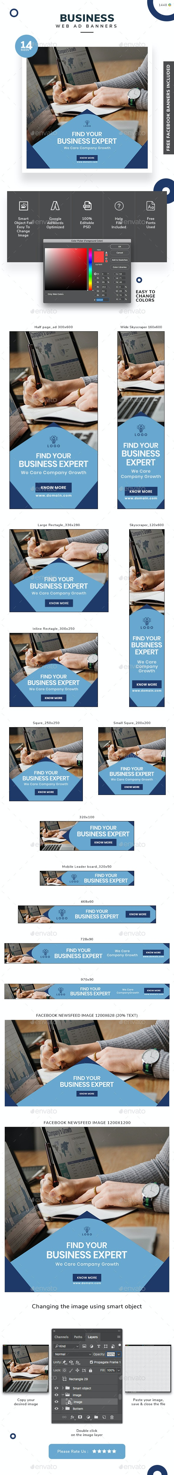 Business Banner Set - Banners & Ads Web Elements