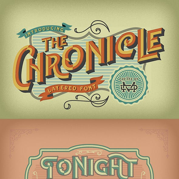 The Chronicle - Layered Typeface