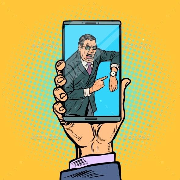 Video Call Boss Man is Late - Communications Technology