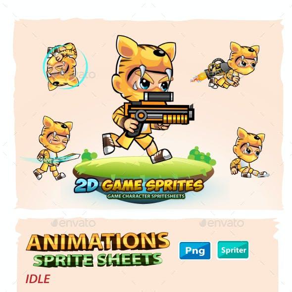 Tiger Boy 2D GameSprites