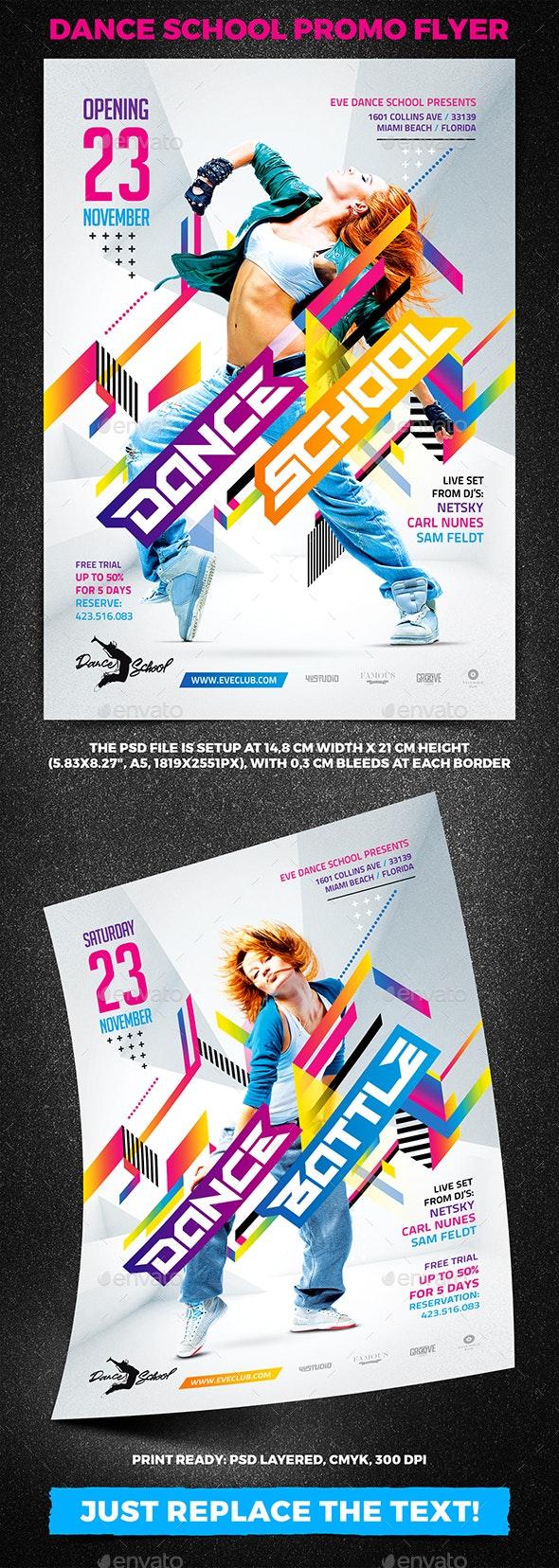 Dance School Promo Flyer - Clubs & Parties Events