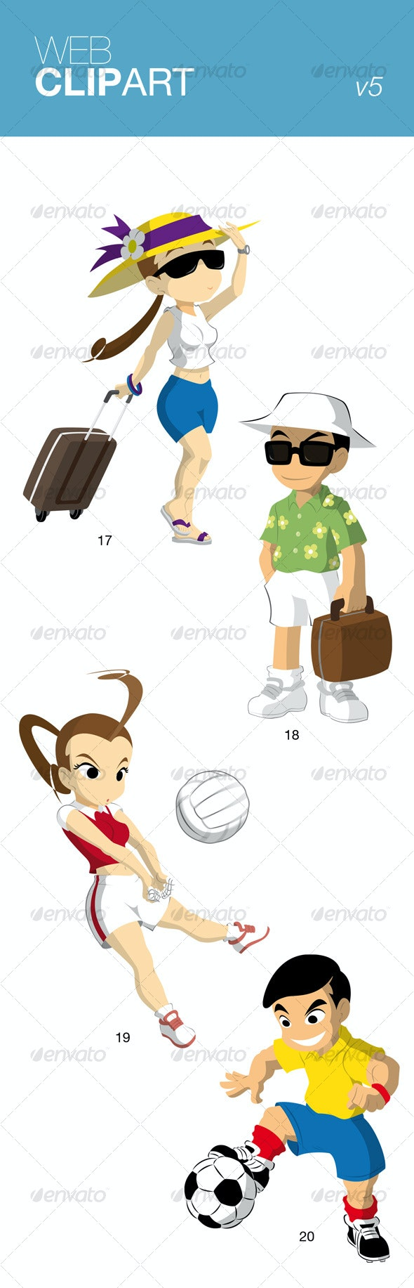 Web Clip Art v5 - People Characters