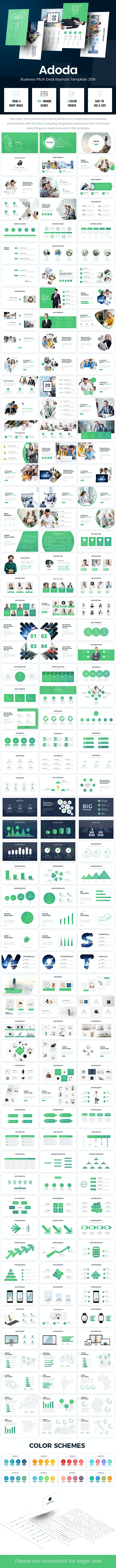 Adoda - Business Pitch Deck Keynote Template 2019 - Business PowerPoint Templates