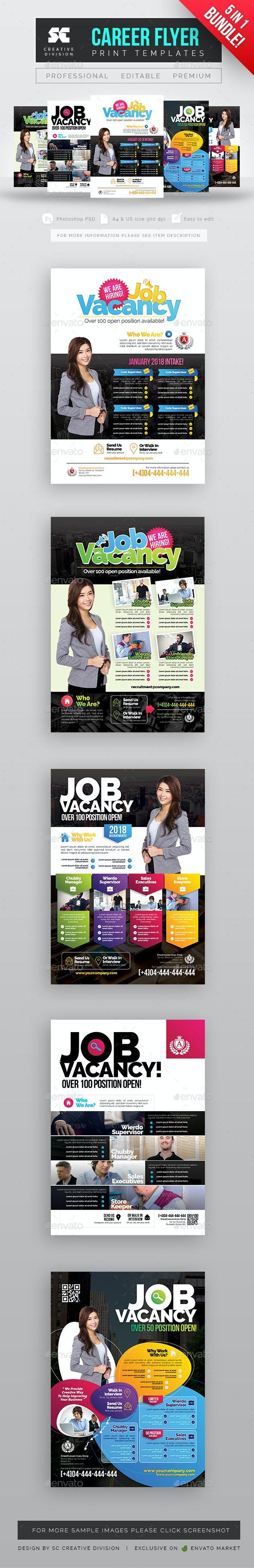 Job Vacancy Flyer Bundle - Corporate Flyers
