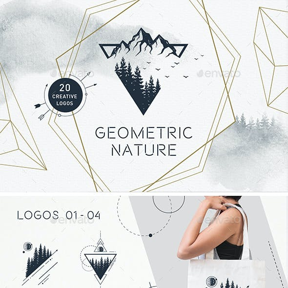 Geometric Nature Emblems