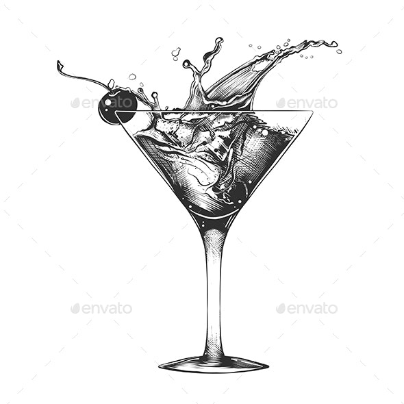 Cocktail With Splash - Food Objects