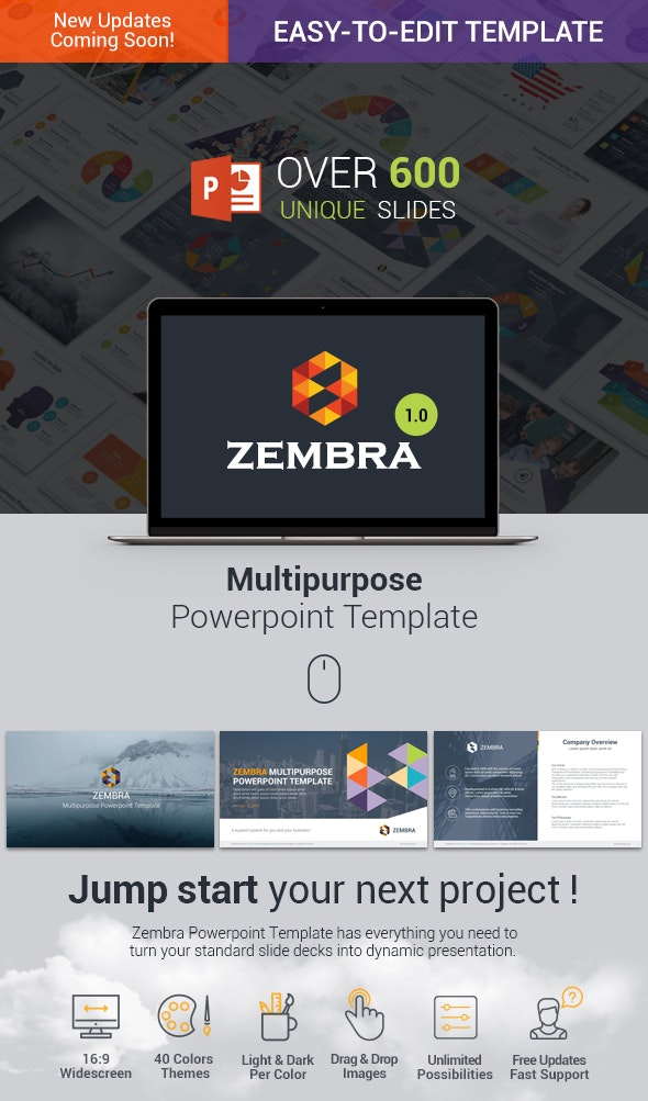 Zembra | MultiPurpose PowerPoint Template - Business PowerPoint Templates