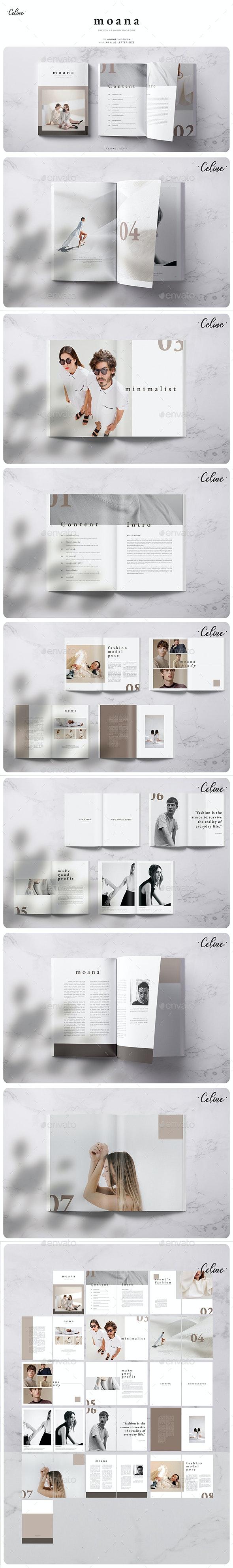 Moana - Fashion Magazine - Magazines Print Templates