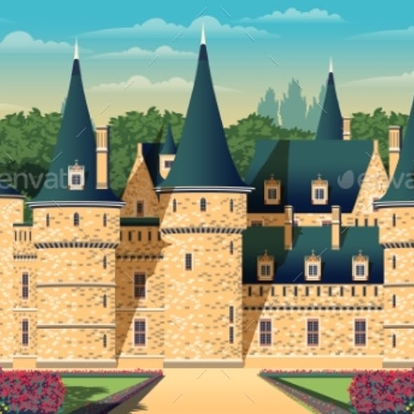 Medieval Romantic Old Chateau with Garden