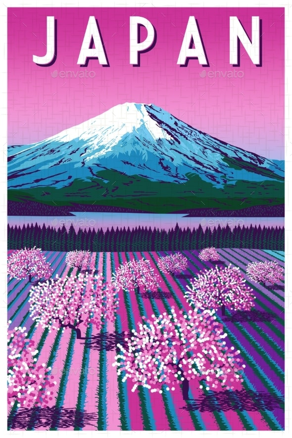 Romantic Rural Landscape in Spring Day in Japan - Landscapes Nature